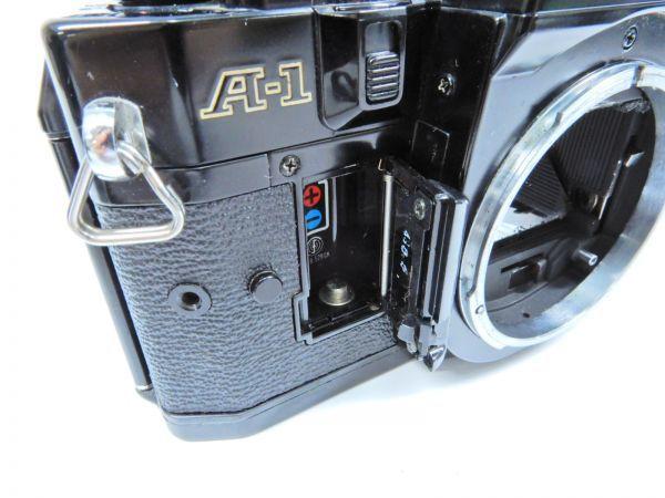 Canon ボディ A-1 レンズ2点 TAMRON SP 90mm 1:2.5 MINOLTA MD ROKKOR 50mm 1:1.7 シャッター確認済み_画像6