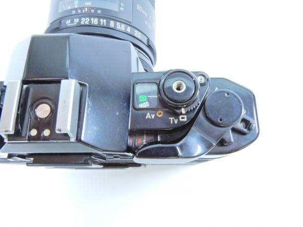 Canon ボディ A-1 レンズ2点 TAMRON SP 90mm 1:2.5 MINOLTA MD ROKKOR 50mm 1:1.7 シャッター確認済み_画像5