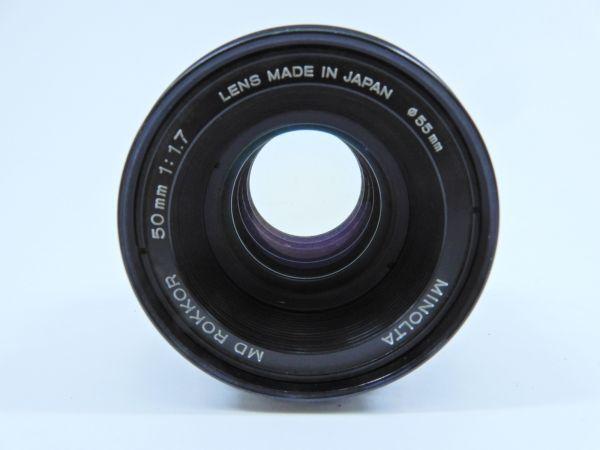 Canon ボディ A-1 レンズ2点 TAMRON SP 90mm 1:2.5 MINOLTA MD ROKKOR 50mm 1:1.7 シャッター確認済み_画像9
