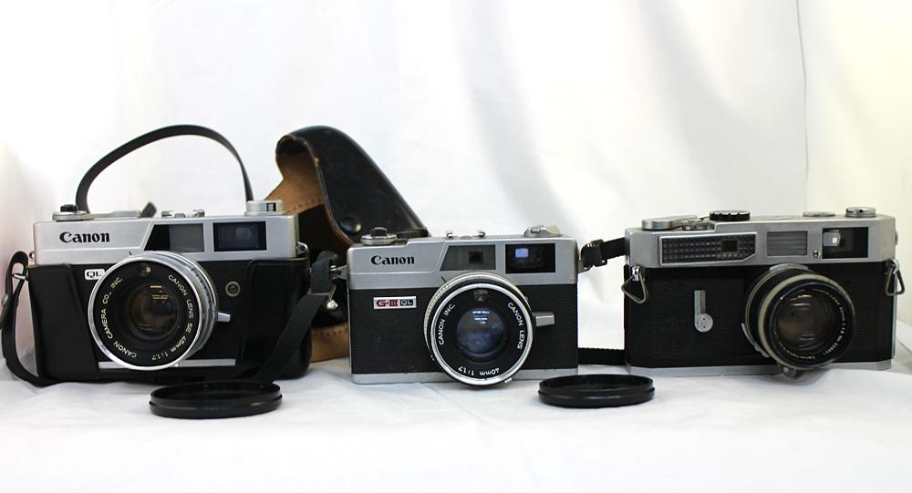 【Canon】 キャノン レンジファインダー Canonet QL17 / Canonet QL17 G-Ⅲ / Canon7 MODEL7 3台セット 現状お渡し