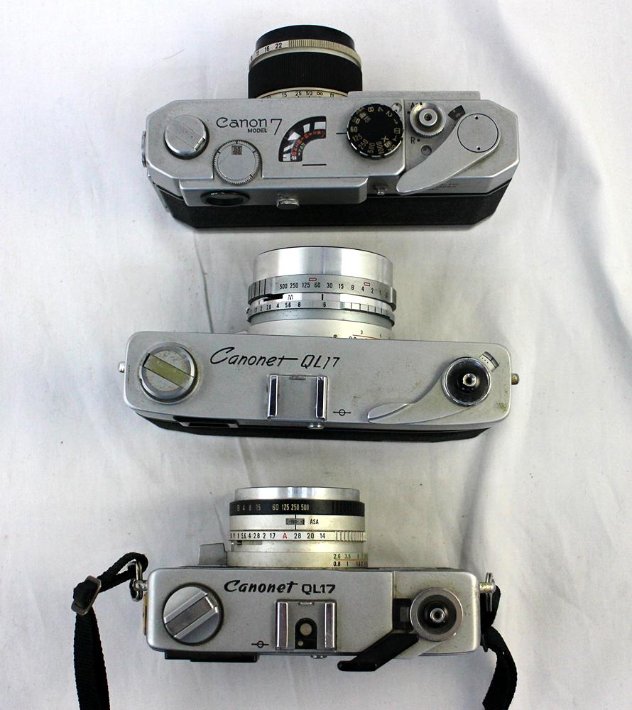 【Canon】 キャノン レンジファインダー Canonet QL17 / Canonet QL17 G-Ⅲ / Canon7 MODEL7 3台セット 現状お渡し_画像9