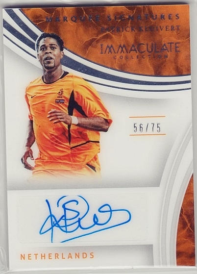 2017 Panini IMMACULATE SOCCER PATRICK KLUIVERT auto パトリック クライファート 直筆サイン 75限定