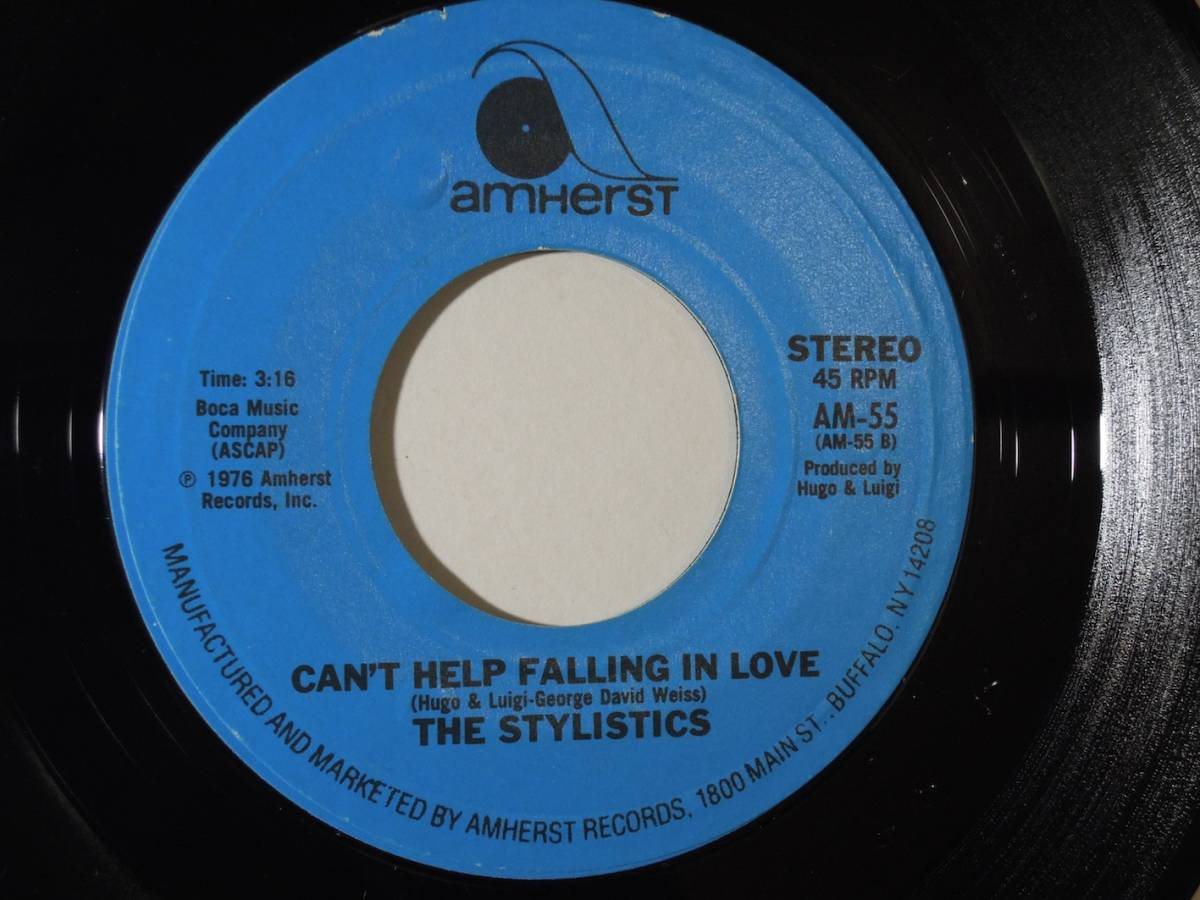 The Stylistics・Heavy Fallin' Out / Can't Help Falling In Love US 7""