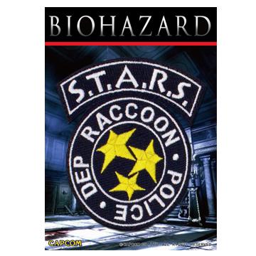 バイオハザード スターズ 刺繍ワッペン BIOHAZARD STARS PATCH Resident Evil クリス ジル ウェスカー バリー レベッカ 生化危机_画像1