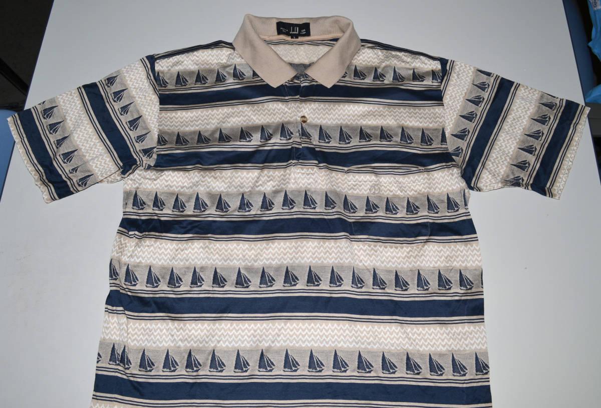 ダンヒル 半袖ポロシャツ Lサイズ 光沢があり高級感満載 USED