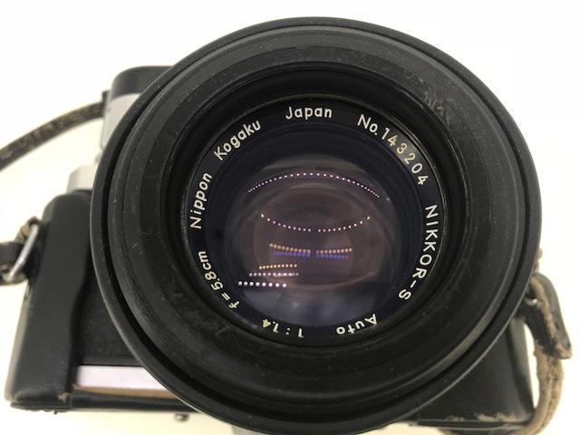 △ニコン F  カメラ NIKKOR-S  1:1.4 f=5.8cm ジャンク品_画像3