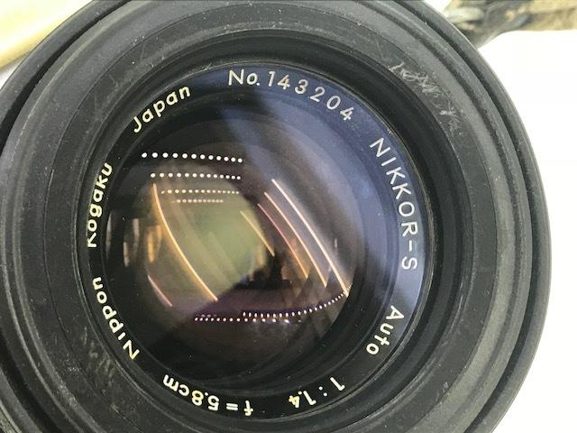 △ニコン F  カメラ NIKKOR-S  1:1.4 f=5.8cm ジャンク品_画像7