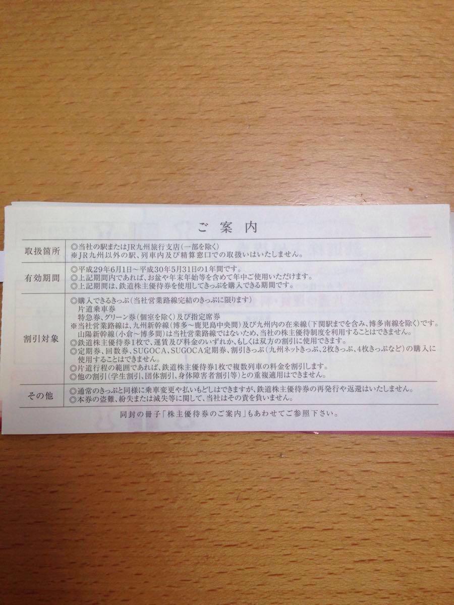 JR九州 鉄道株主優待券 2枚セット_画像2