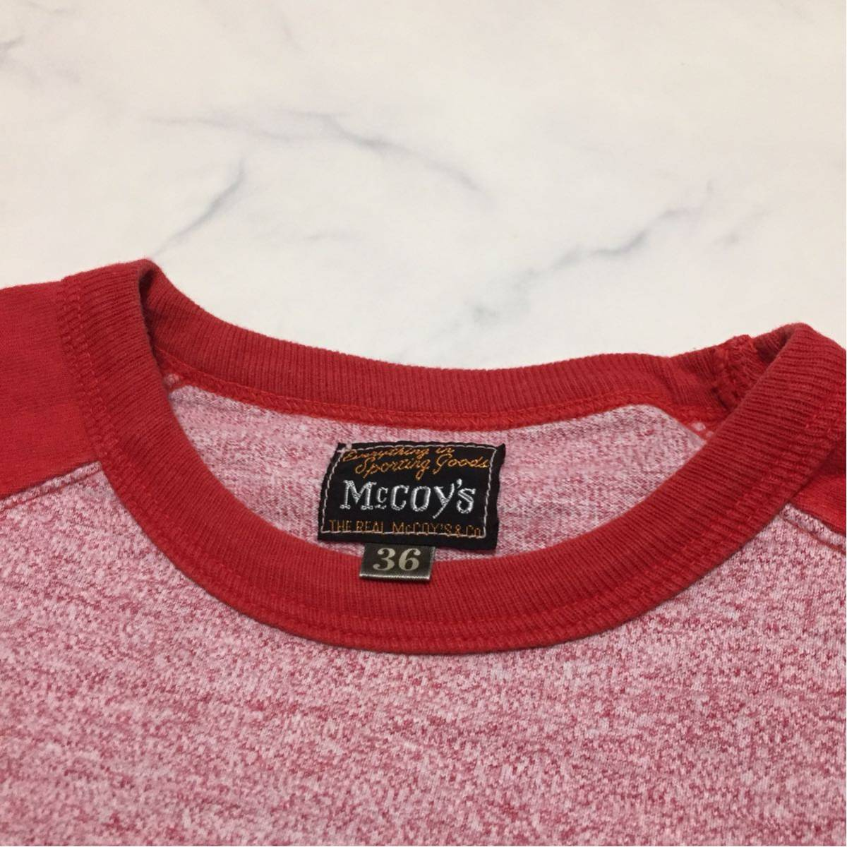 REAL McCOY'S リアルマッコイズ マッコイ ラグラン 7分丈Tシャツ 36 S_画像3