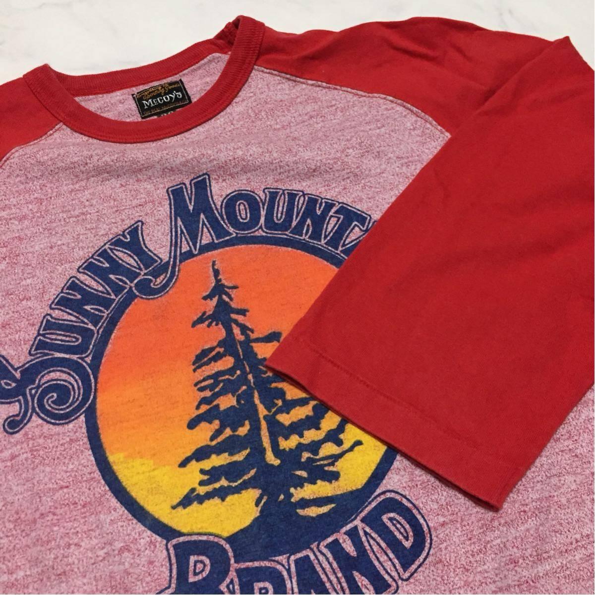 REAL McCOY'S リアルマッコイズ マッコイ ラグラン 7分丈Tシャツ 36 S_画像4