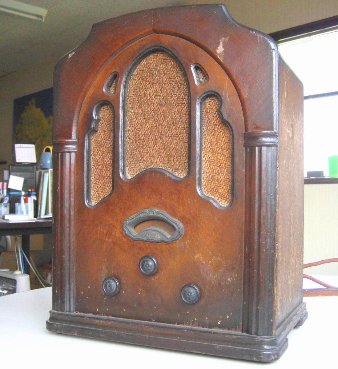 古い 真空管ラジオ 骨董品 ジャンク品 部品取り_画像2