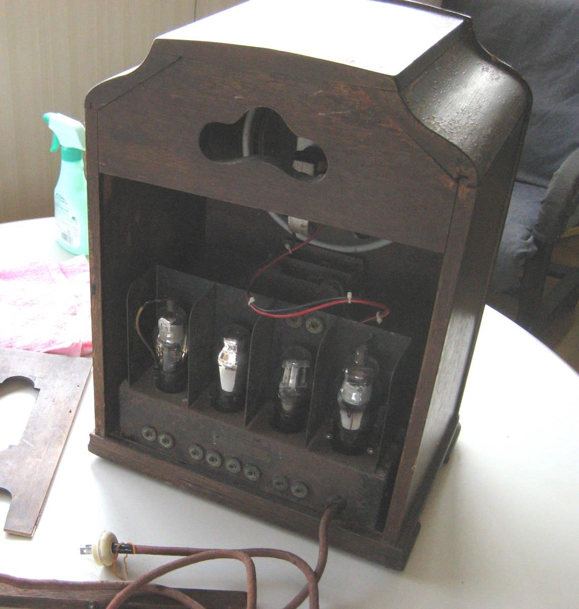 古い 真空管ラジオ 骨董品 ジャンク品 部品取り_画像3