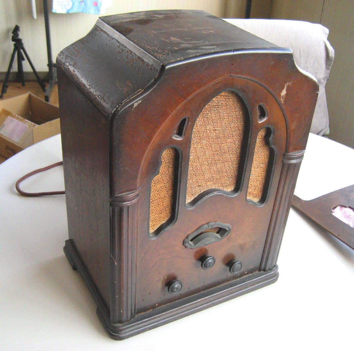 古い 真空管ラジオ 骨董品 ジャンク品 部品取り