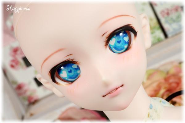 **はぴねす** DDH-09 セミホワイト肌 カスタムヘッド&レジンアイ _画像3