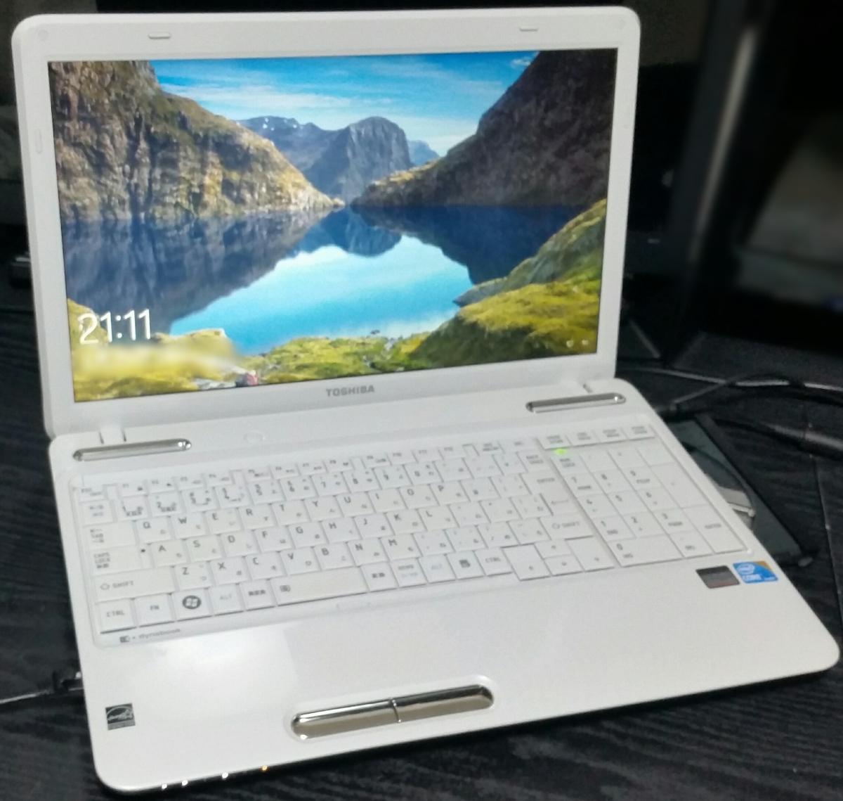 綺麗☆Core i5[4-8GB]大容HDD500GB dynabook Win10 Office2013 [DVD-Blu-ray] HDMI 1000Base-T AC付き 人気ホワイト 送料無料♪特典有★