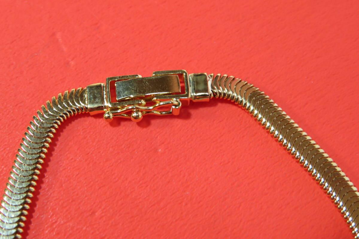 新品 k18 イエローゴールド  ブレスレット オーバル スネーク  チェーン   18 cm   7.64 g_画像6