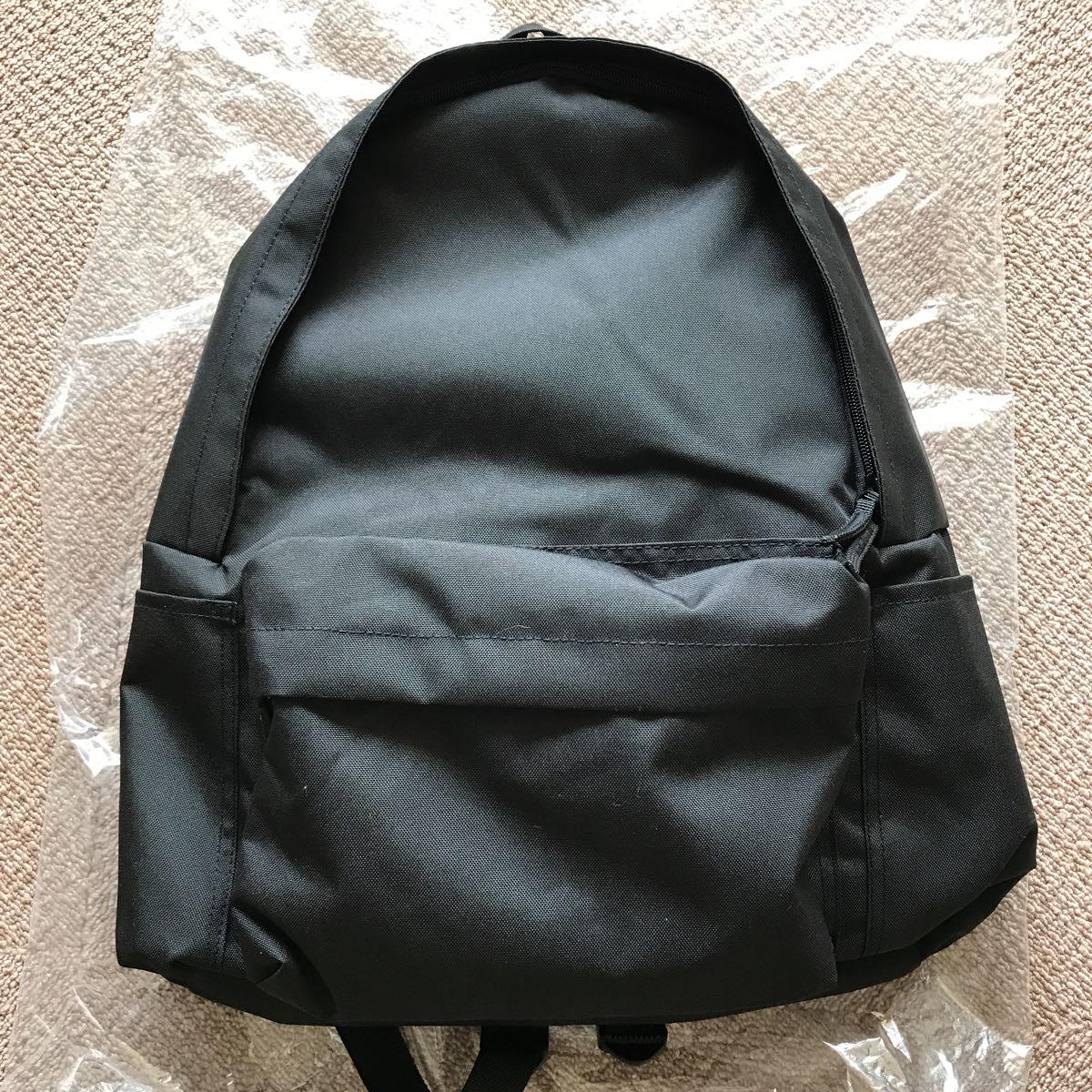 新品 未使用 無印良品 PCポケット付リュック バックパック 黒 ブラック