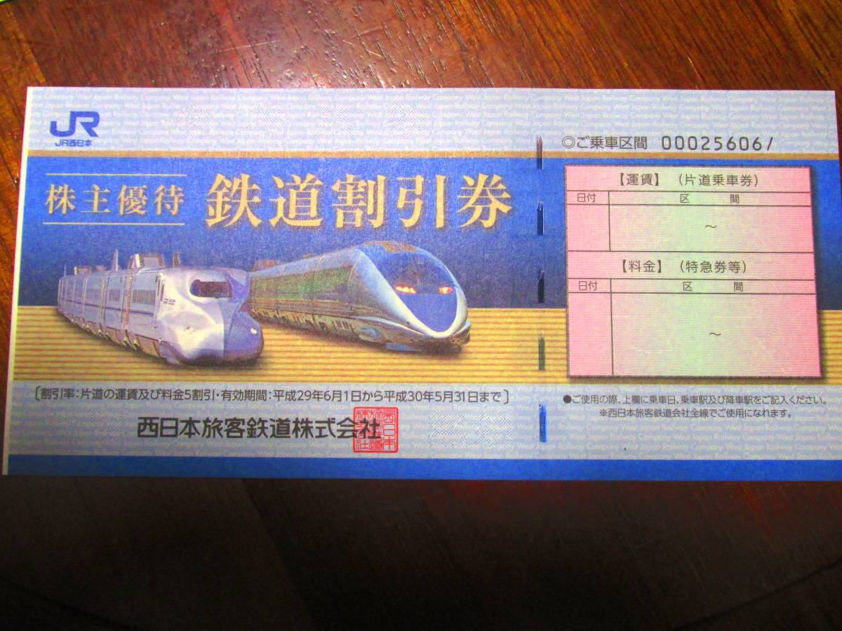 JR西日本株主優待割引券1枚 各種優待券付き
