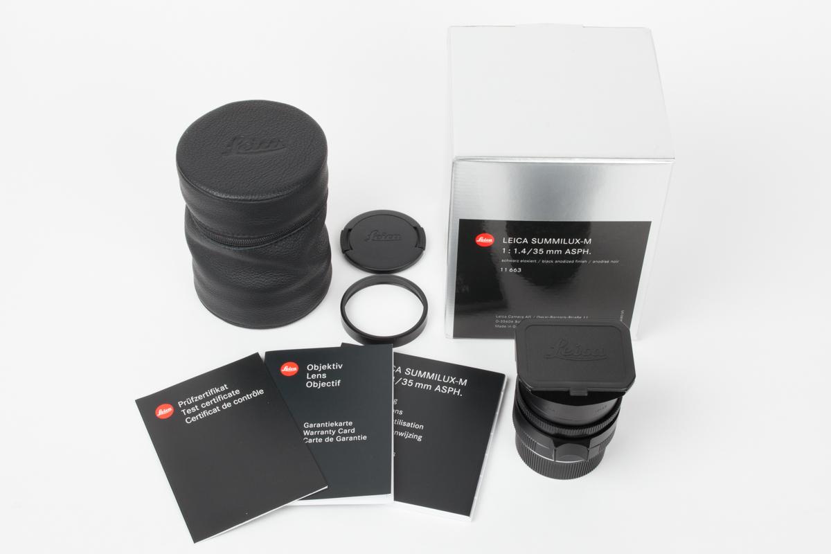 メーカー点検済 ライカ LEICA SUMMILUX 35mm F1.4 ASPH FLE ブラック