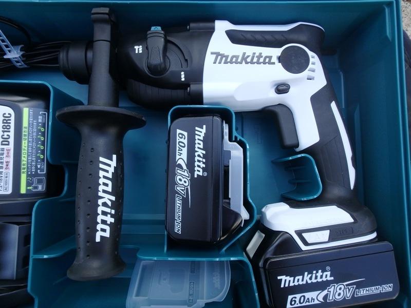即決税込未使用品マキタ18V6,0Ah充電ハンマドリルHR165DRGX予備電池付_画像3