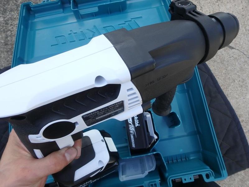 即決税込未使用品マキタ18V6,0Ah充電ハンマドリルHR165DRGX予備電池付_画像6