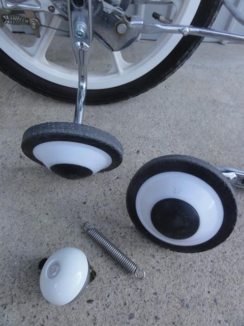 無印良品 16インチ 子供用自転車 白 補助輪付き 良品計画_画像9