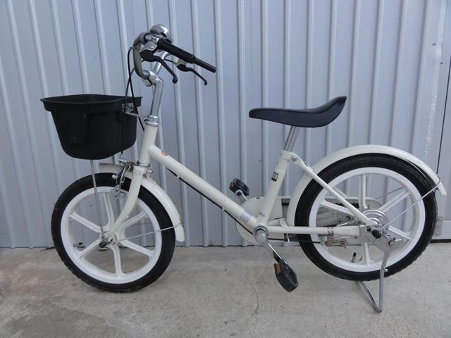 無印良品 16インチ 子供用自転車 白 補助輪付き 良品計画