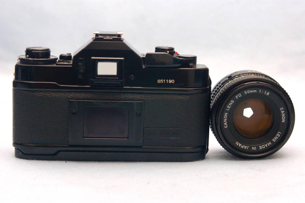 Canon キャノン 昔の高級一眼レフカメラ A-1ボディ + 純正 単焦点50mmレンズ 付_画像3