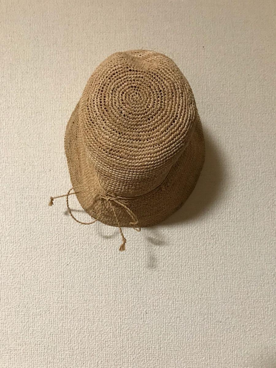 【無印良品】*良品 *麦わら帽子 ラフィア ・57.5