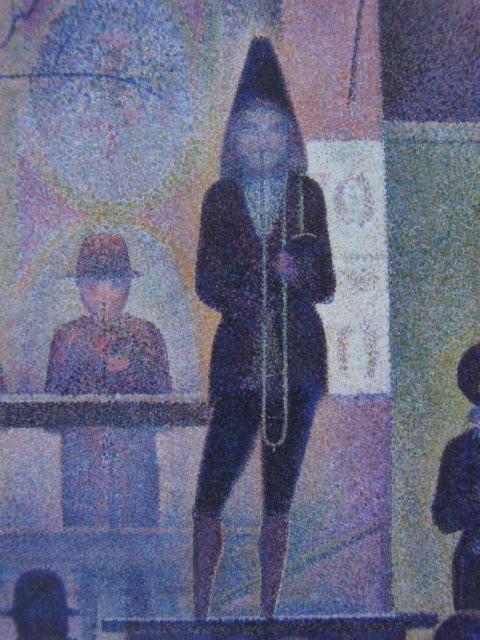 ジョルジュ・スーラ、【パレード】、新品高級額 額装付、年代物・希少画集画、状態良好、送料無料 人物画_画像2