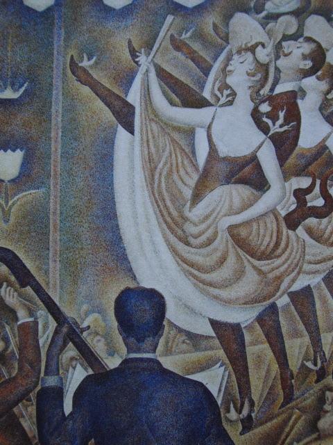 ジョルジュ・スーラ、【シャユ踊り】、新品高級額 額装付、年代物・希少画集画、状態良好、送料無料 人物画_画像1