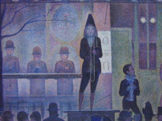 ジョルジュ・スーラ、【パレード】、新品高級額 額装付、年代物・希少画集画、状態良好、送料無料 人物画_画像1