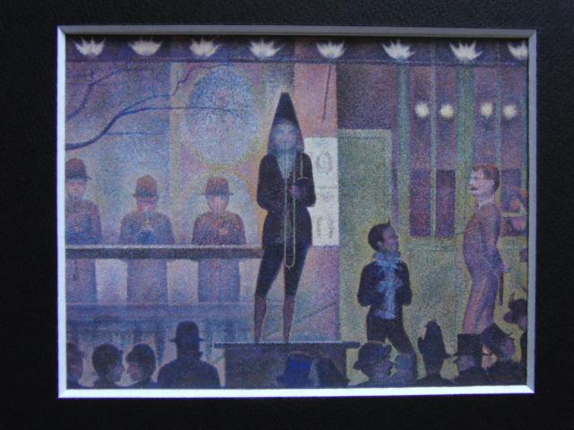 ジョルジュ・スーラ、【パレード】、新品高級額 額装付、年代物・希少画集画、状態良好、送料無料 人物画_画像3