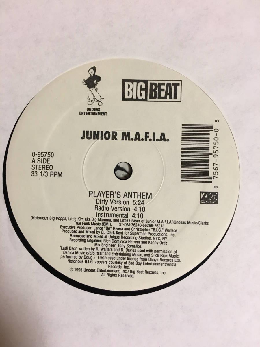 JUNIOR M.A.F.I.A / PLAYER'S ANTHEM 12インチ レコード HIP HOP ヒップホップ クラブミュージック_画像3