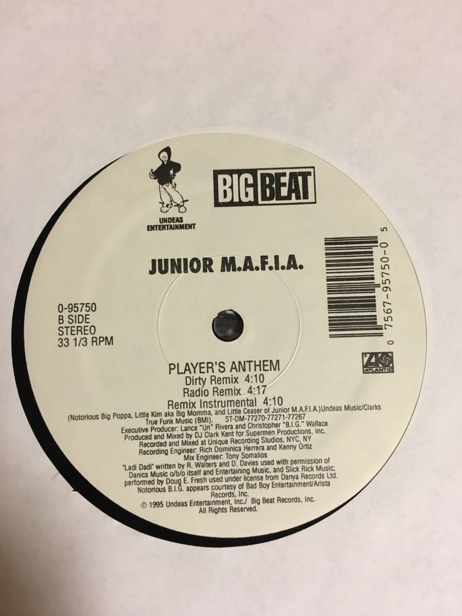JUNIOR M.A.F.I.A / PLAYER'S ANTHEM 12インチ レコード HIP HOP ヒップホップ クラブミュージック_画像4