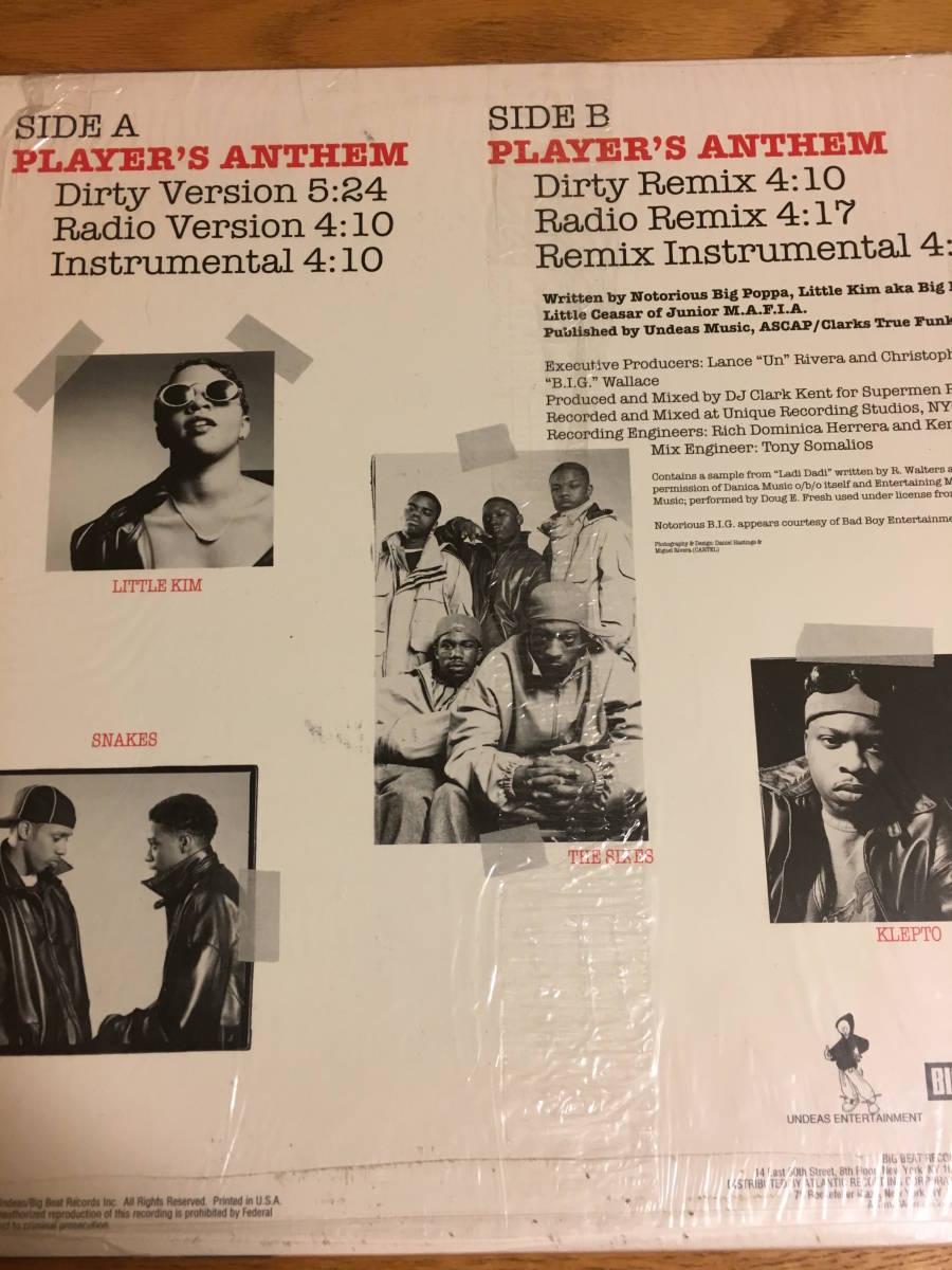 JUNIOR M.A.F.I.A / PLAYER'S ANTHEM 12インチ レコード HIP HOP ヒップホップ クラブミュージック_画像2