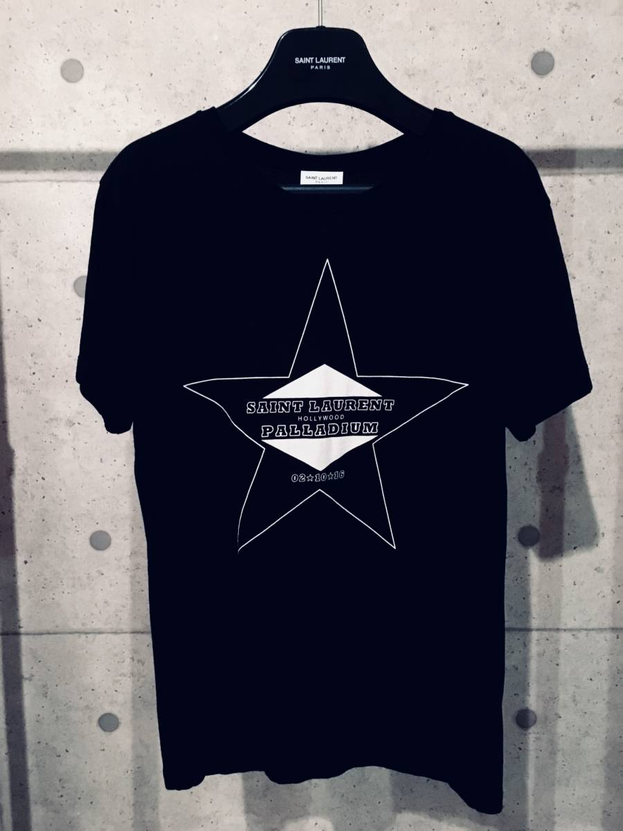 希少 サンローランパリ パラディウム Tシャツ ブラックXS