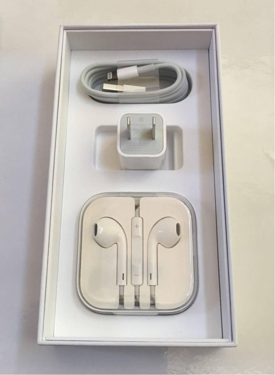 新品未使用アップル純正充電器、イヤホン IPhone 5.6S.Plus