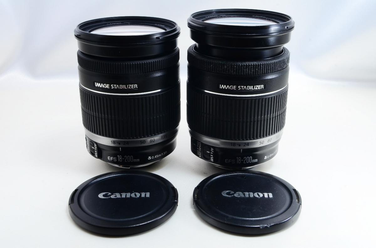 Canon 望遠ズームレンズ EF-S18-200mm F3.5-5.6 IS APS-C対応 2本まとめて