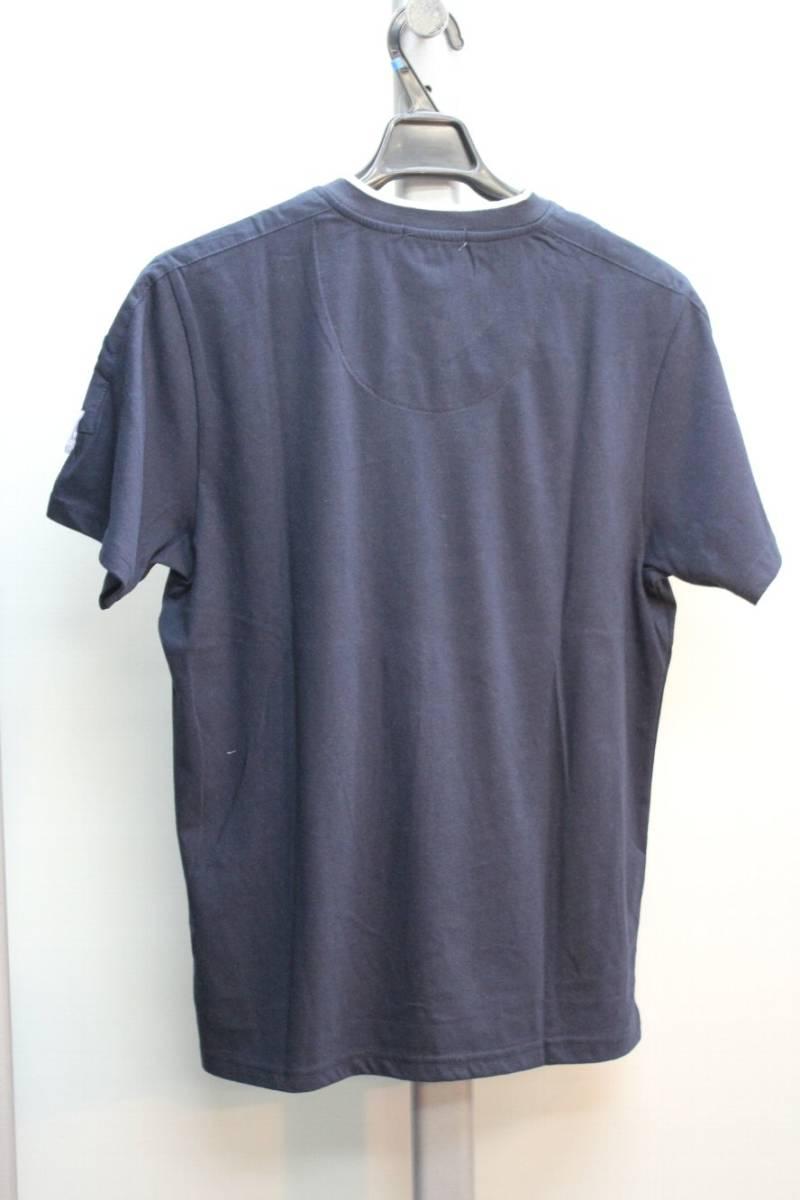 【感謝セール■超特価■大処分■ラスト1着 ■FIT OUT■有名ブランド】紺色 ■刺繍Tシャツ ■Mサイズ【定価8208円】_画像4