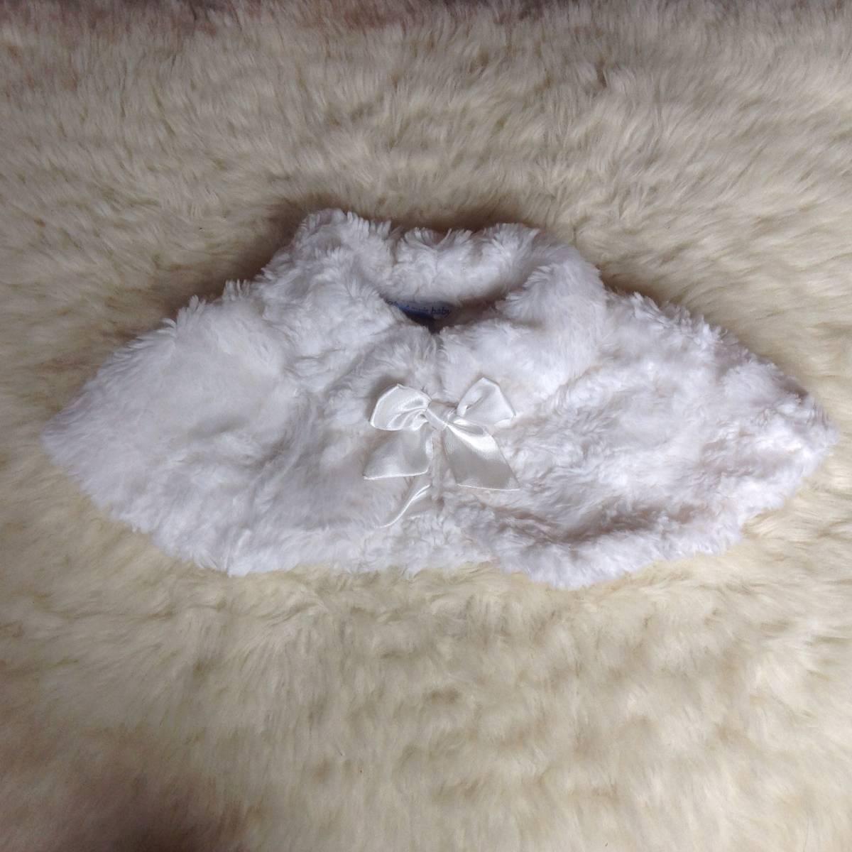美品 セット イギリス 英国 ジョンルイス ベビー 80cm オフホワイト ケープ パープル 紫 ベルベット ワンピース フォーマル 結婚式 発表会_画像7