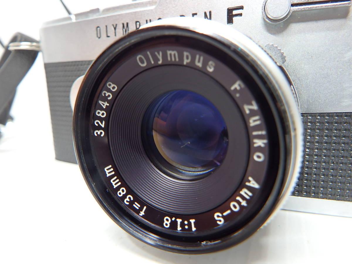 オリンパス MFハーフ判一眼レフカメラ PEN-FT レンズ F.Zuiko Auto-s f1.8 38mm OLYMPUS 純正ケース付き 管KA0415_画像2