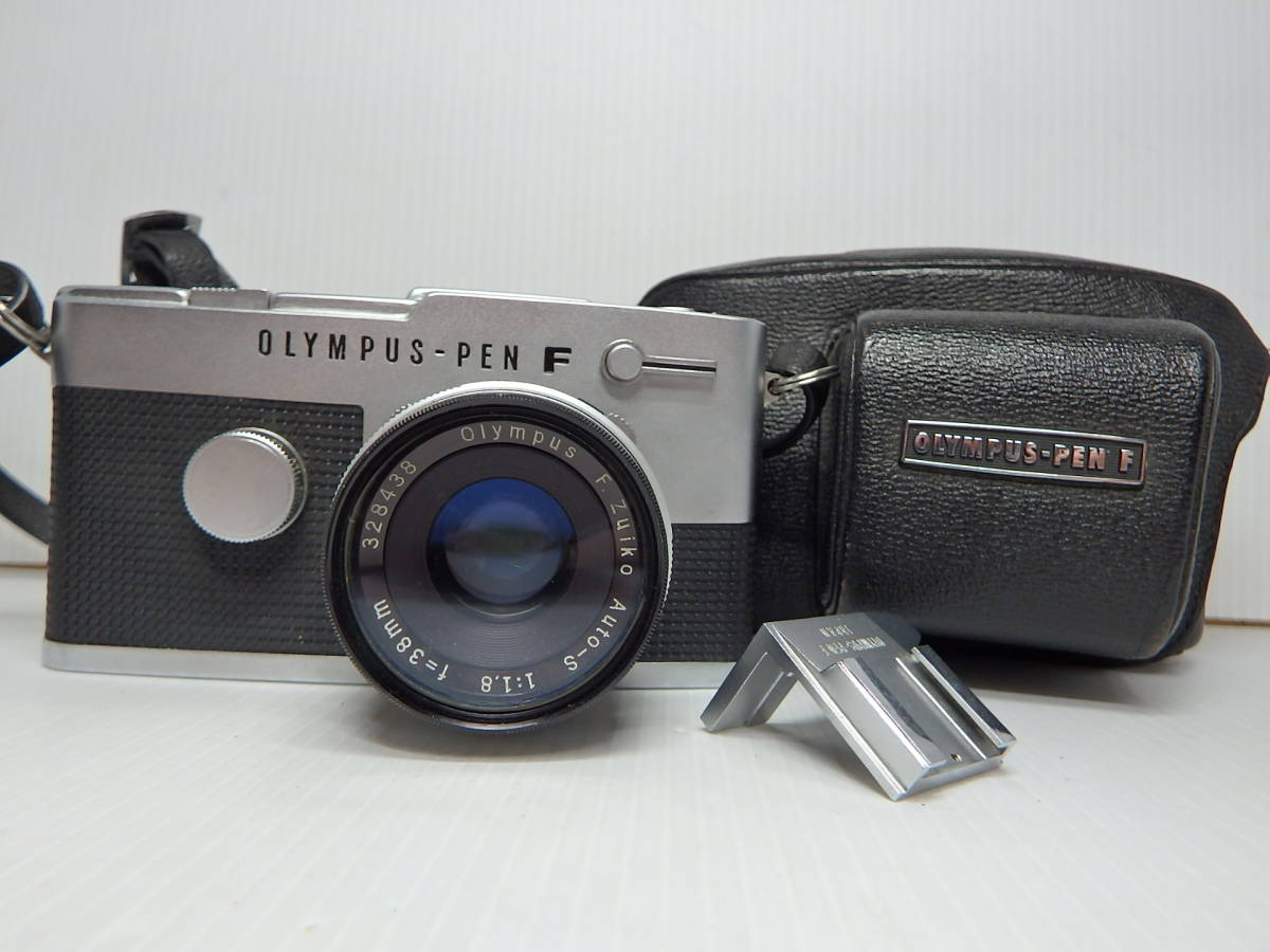 オリンパス MFハーフ判一眼レフカメラ PEN-FT レンズ F.Zuiko Auto-s f1.8 38mm OLYMPUS 純正ケース付き 管KA0415