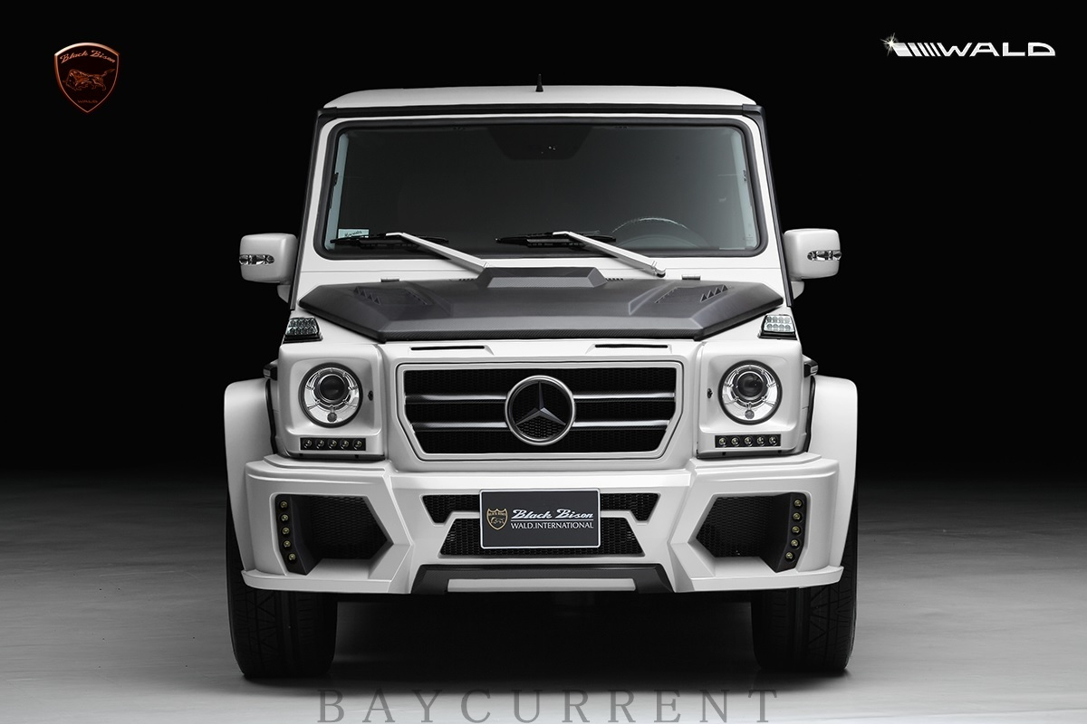 【WALD BlackBison Edtion】 Mercedes-Benz W463 ゲレンデ FRP製 エアロ ボンネット ブラックバイソン ベンツ ヴァルド Gクラス_画像3