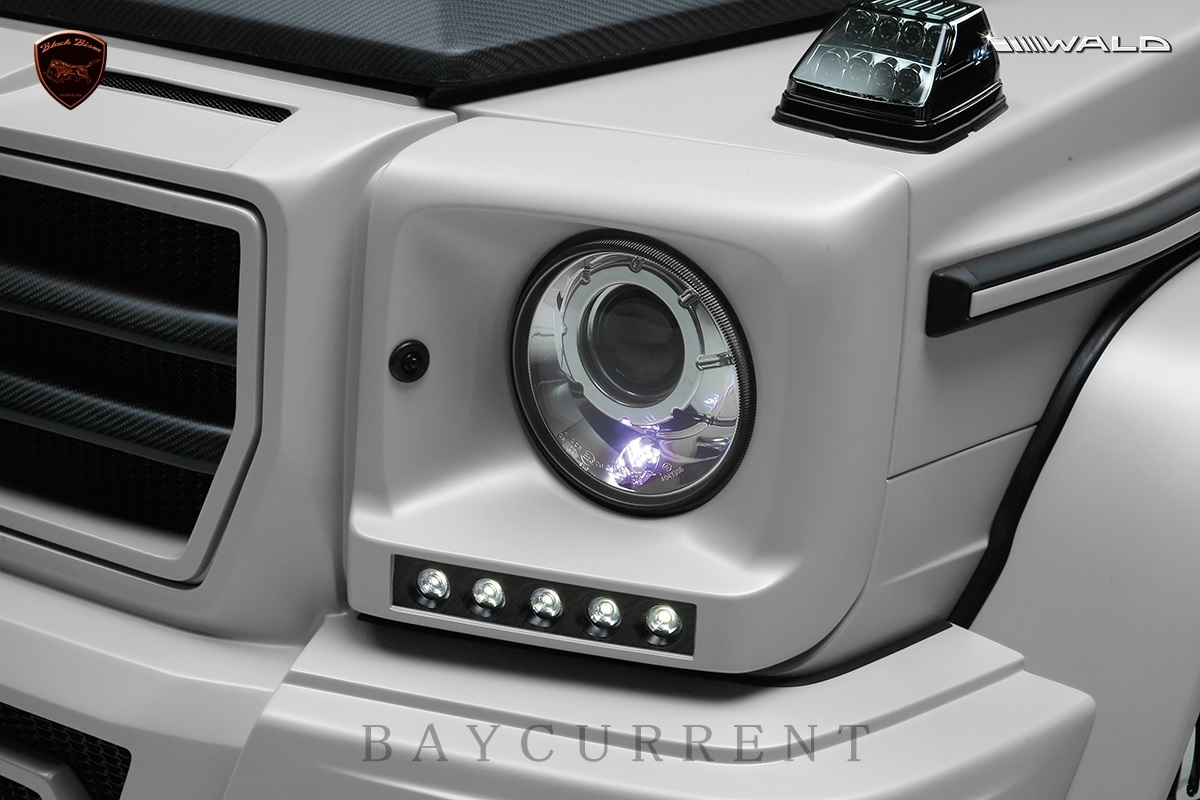 【WALD BlackBison Edtion】 Mercedes-Benz W463 ゲレンデ FRP製 エアロ ボンネット ブラックバイソン ベンツ ヴァルド Gクラス_画像5