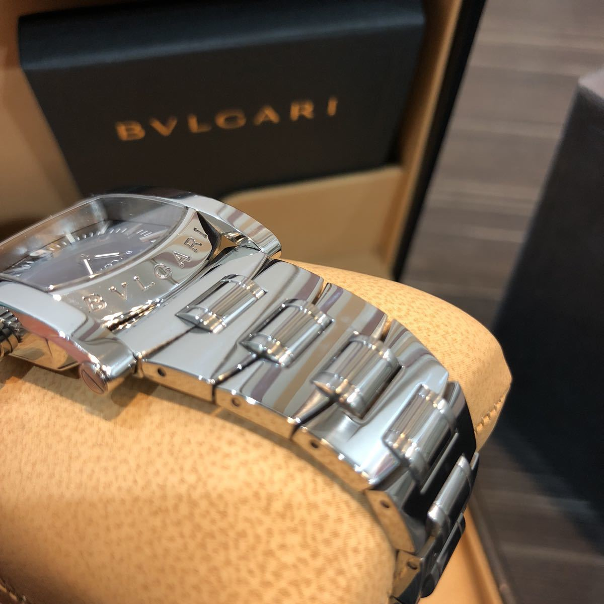 仕上げ済み 極美品 ブルガリ アショーマ AA39S BVLGARI 腕時計 レディース_画像9