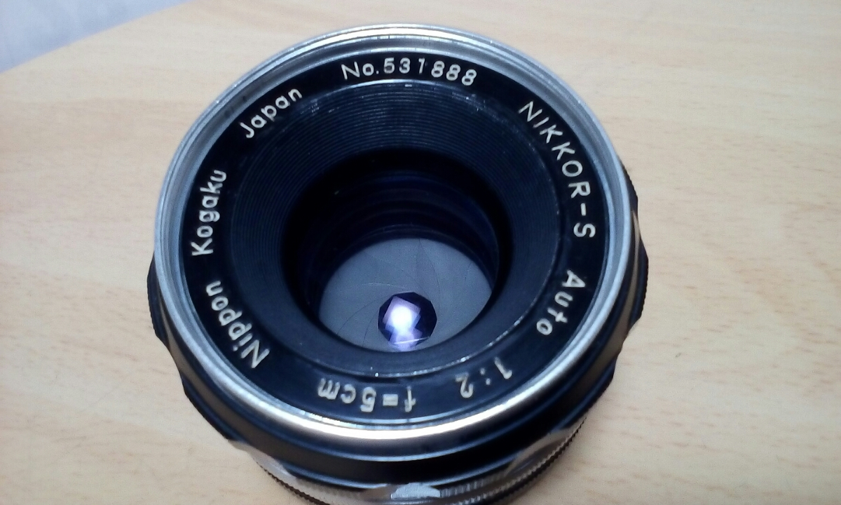 Nikon F (最初期型640Fに近い64102-です) NIKKOR-S Auto 1:2 f=5cm ケース付き_画像6