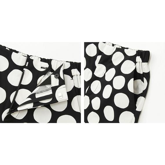 【サイズM】ユニクロ×マリメッコ ワイドクロップドパンツ ブラック ドット uniqlo Marimekko one piece dot tote bag ウニッコ 水玉 UT_画像2