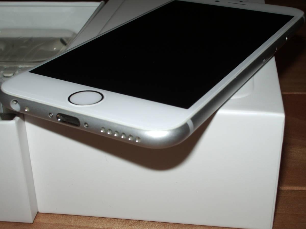 美品中古 au iPhone6 128GB シルバー _画像3