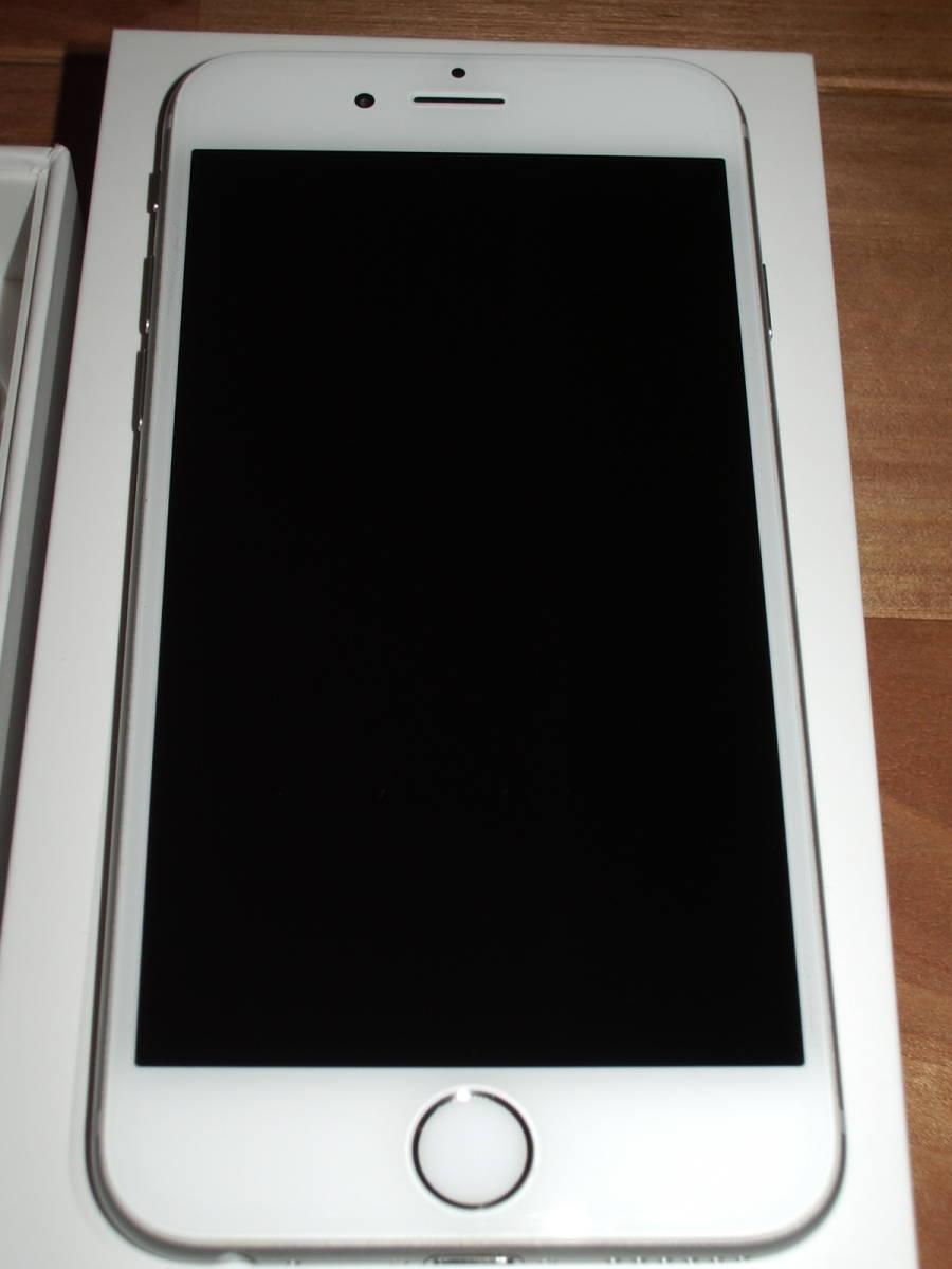 美品中古 au iPhone6 128GB シルバー _画像7